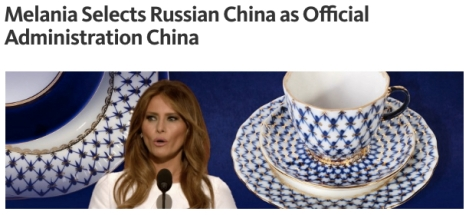 melania trump white house official administration china diplomacy