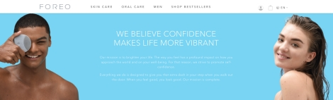 Foreo ecommerce site copy